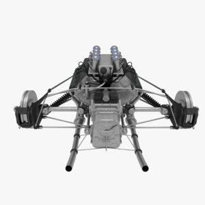 suspension f1 car 3D model