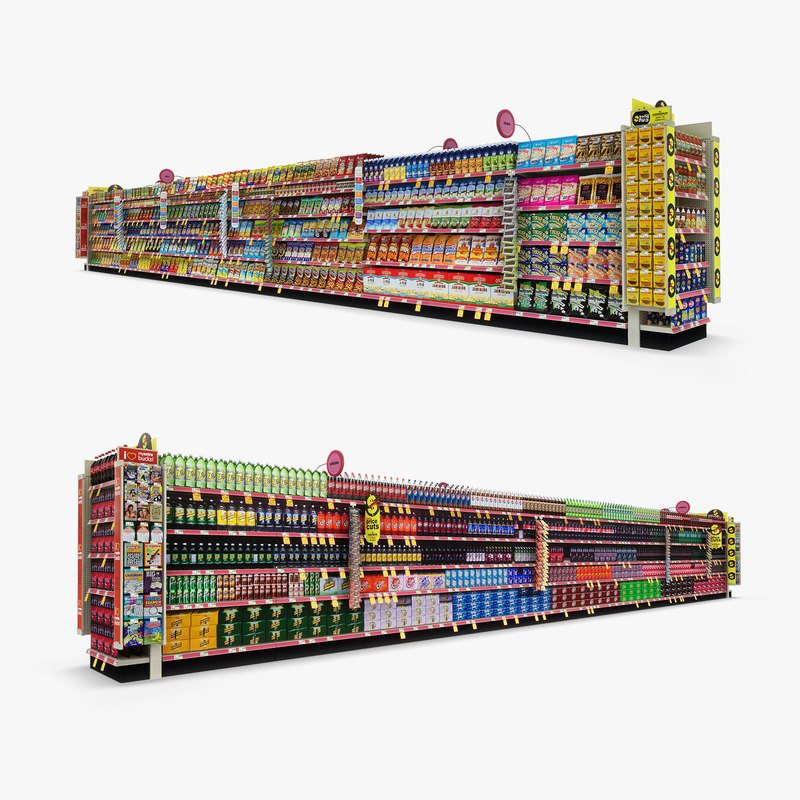 3D model aisle 08 -