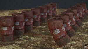 ready barrel metallic 3D