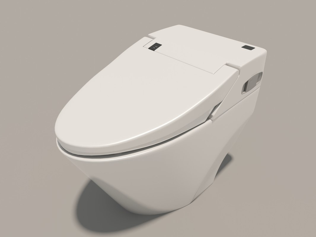 toilet bowl bidet 3D model