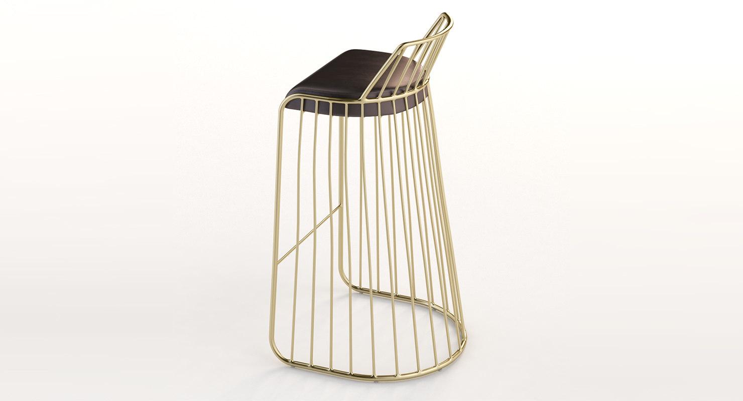 3D bride veil stool model
