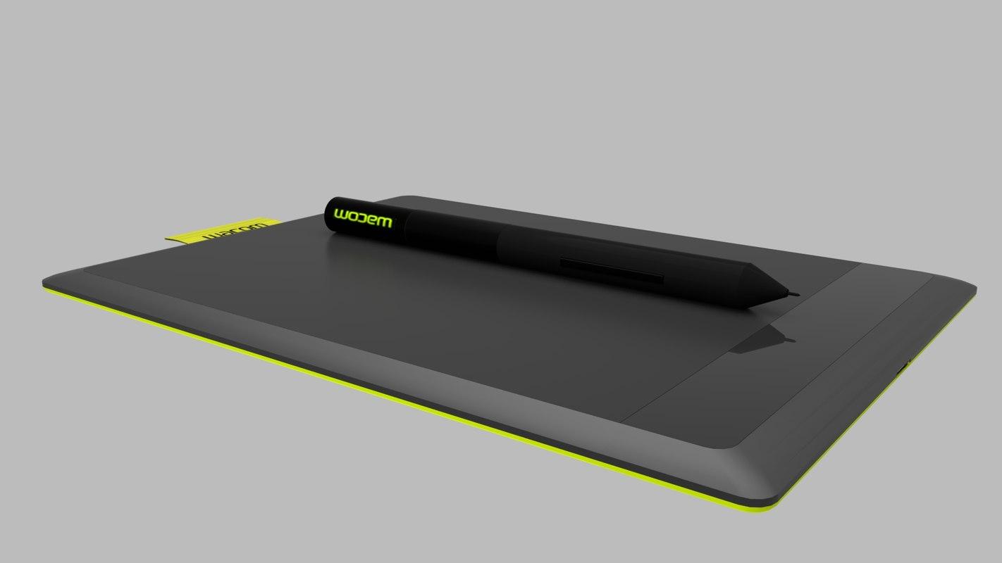 wacom ctl-471 3D model