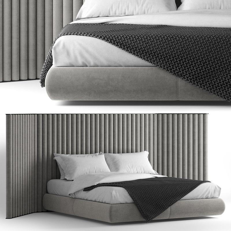 flexform biarritz bed comp 3D model