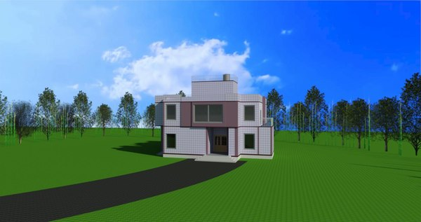 revit bunglow 3D model