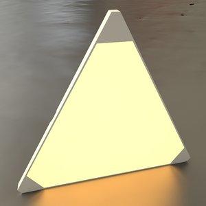 3D nanoleaf wall light tiling model