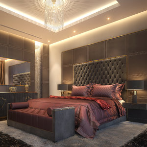 bedroom 2 scene 3D model