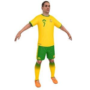 soccer player 2018 3D model