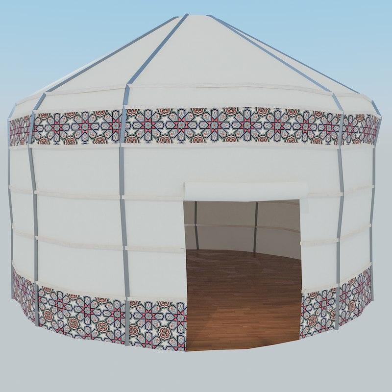 turkish old style tent 3D model