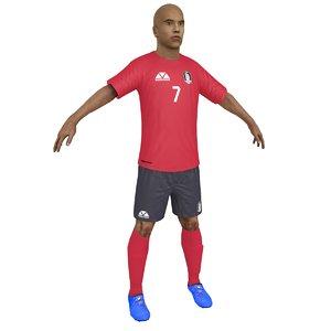 3D soccer player 2018