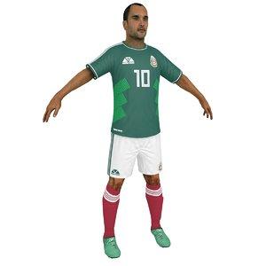 soccer player 2018 3D