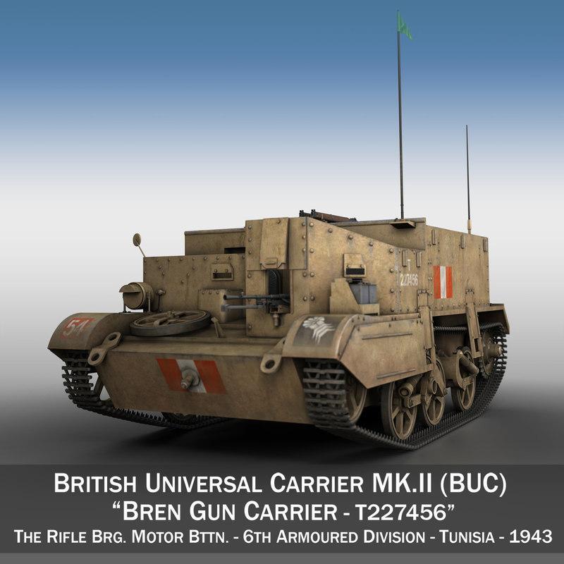 bren gun carrier - 3D