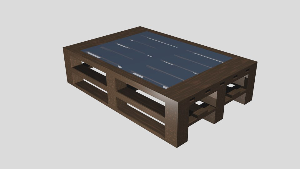 3D model table pallets