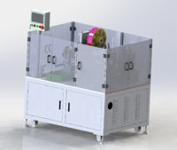 Plastic bag heating machine