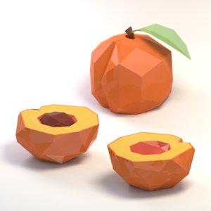 peach cartoon 3D