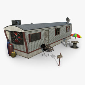3D mobile home trailor model