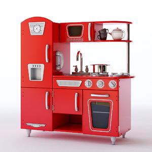 kidkraft vintage play kitchen model