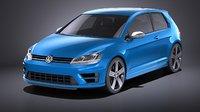 Volkswagen Golf VII R 2014 VRAY
