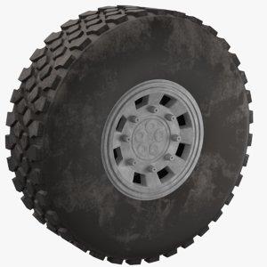 tire dust truck 3D model