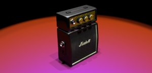 3D marshall mc-2 guitar amplifier
