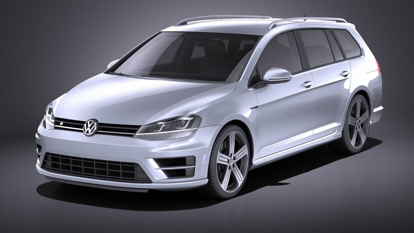 3D 2015 volkswagen golf model