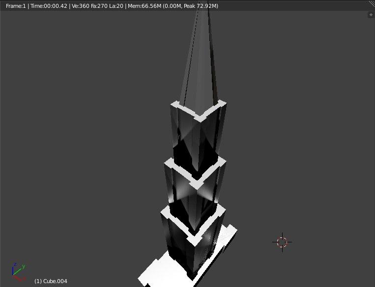 new york skyscraper tower 3D