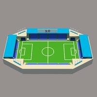 stadium low poly