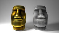 moai statue 3D model