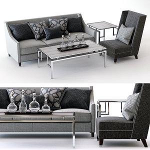 palisades sofa driscoll chair 3D