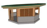 observation hut 3D model