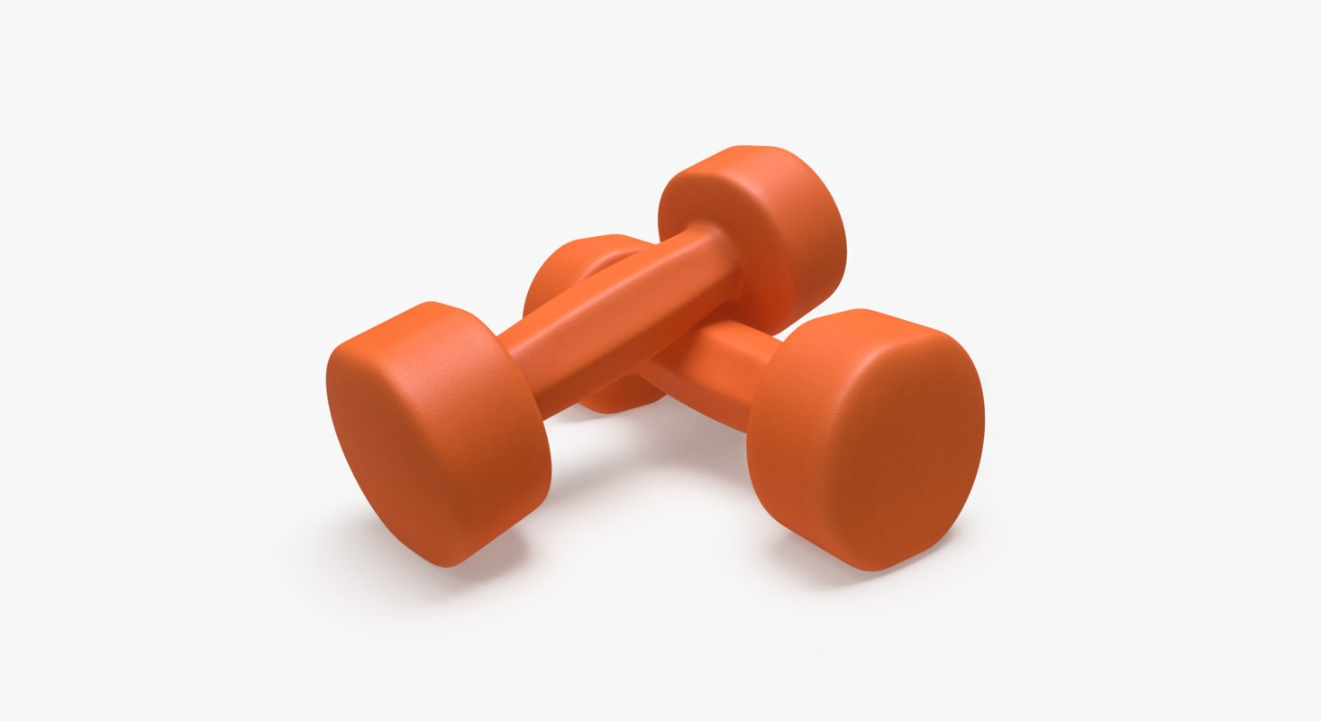 3D neoprene dumbbells
