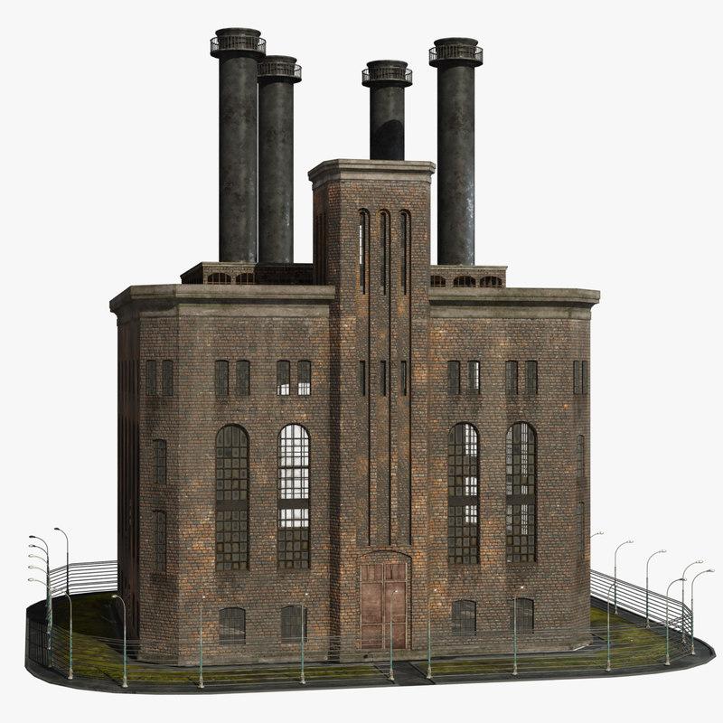 big old factory 3D model