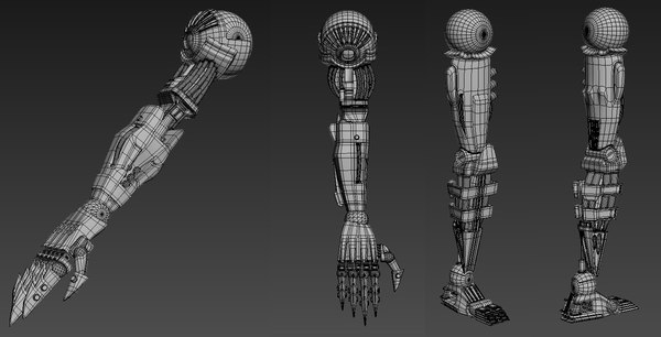 cyborg roboter arm leg model