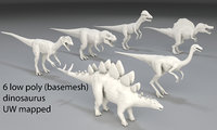 Dinosaur-6 peaces-low poly-part 1