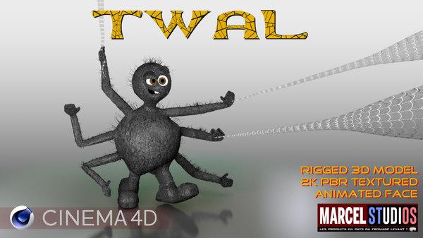 3D twal spider model