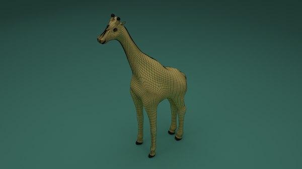 giraffe animal 3D model