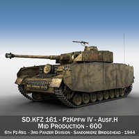 3D german panzer 4 ausf model