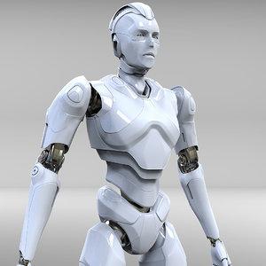 3D model cyborg robot