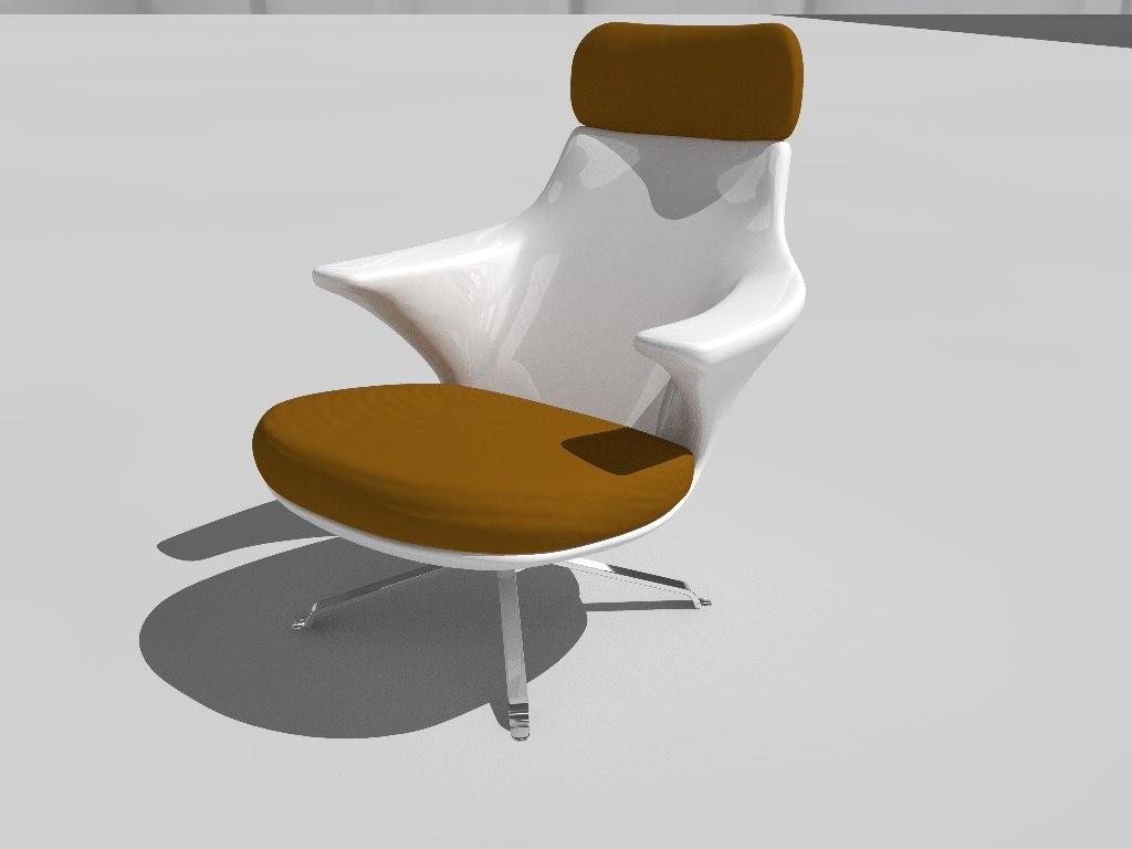 3D model alva chair