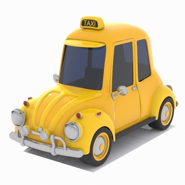 taxi car toon 3D