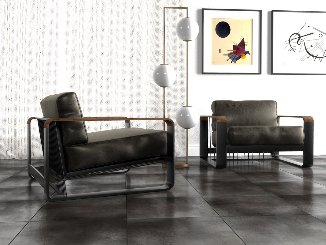 3D noda lounge armchair