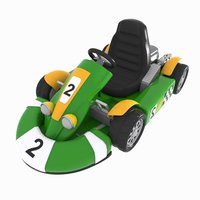 3D model cartoon racing car