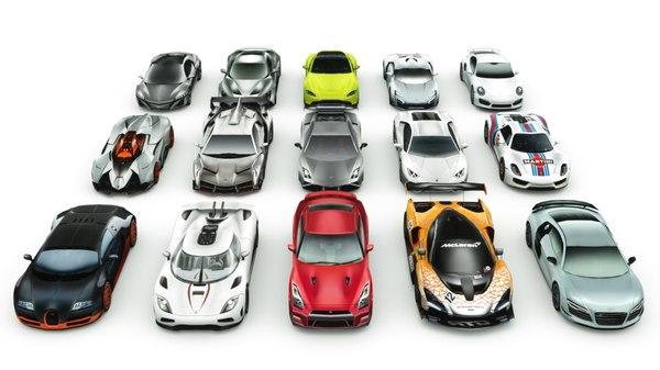 3D 15 super cars sportcars