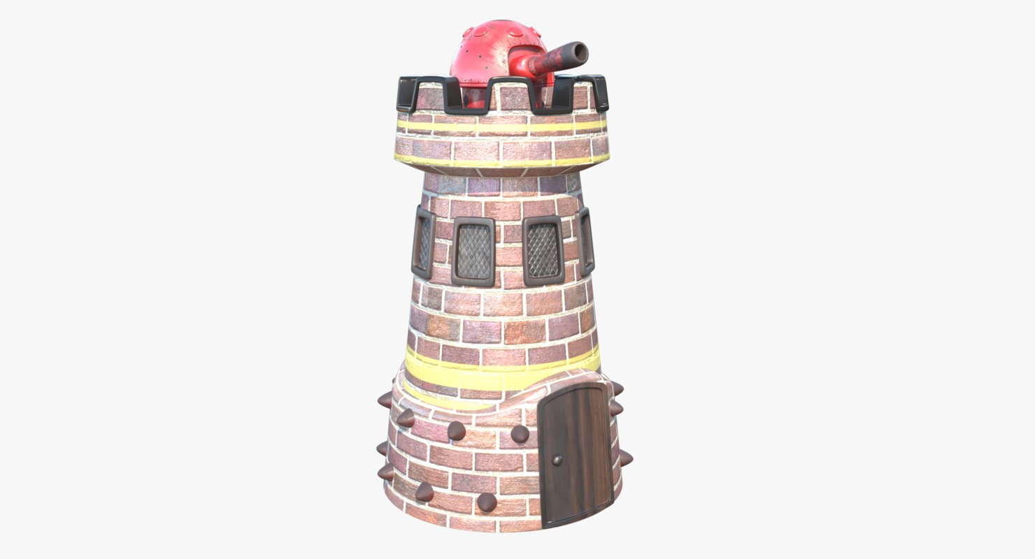cannon turret 3D model