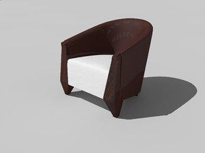 3D chair alva model