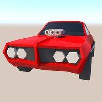 low poly Pontiac GTO 1969