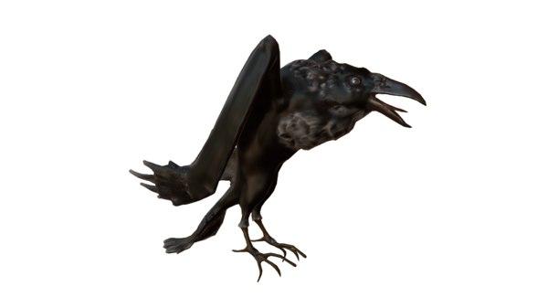 old raven 3D model
