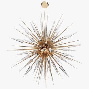 3D luxxu explosion chandelier