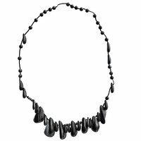 black pear & rock necklace