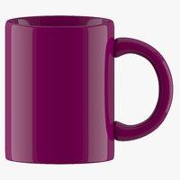 3D coffee mug dark parpal