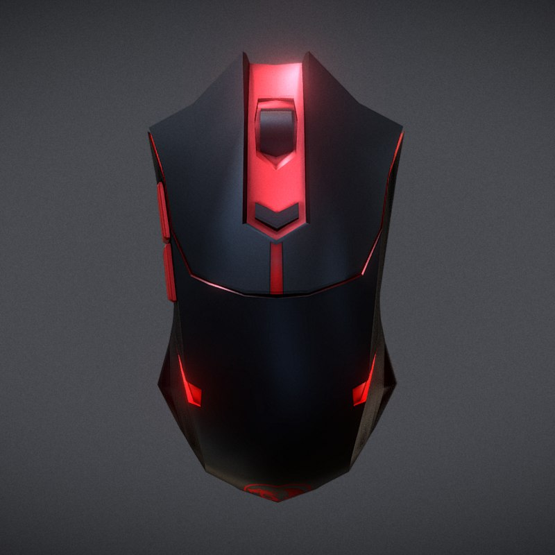 redragon mouse 3D model